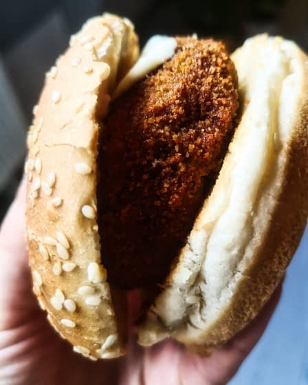 Bamischijf broodje