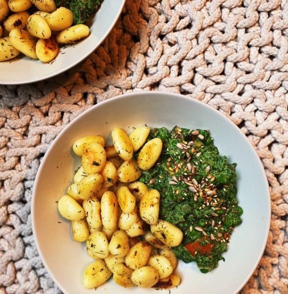 Gnocchi spinazie saus